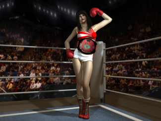 Akira Asuka comes from a long line of champions. Her grandfather and father both held boxing titles in their day and her mother held both a singles women's wrestling belt and a tag team wrestling belt. Akira trained hard from an early age with her family and eventually lived up to the Asuka name by winning and holding on to the Japanese Foxy Boxing Championship belt.