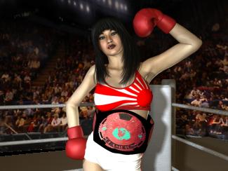 Japanese Foxy Boxing Champion, Akira Asuka