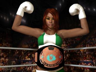 Nigerian Foxy Boxing Champion, Kamilah Kuti